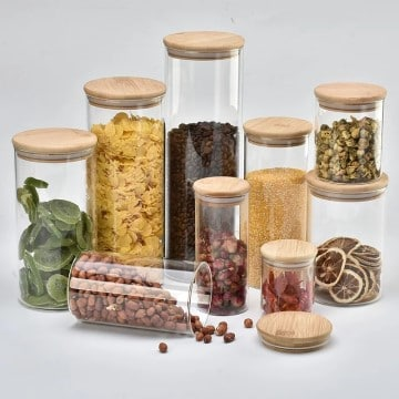Pretty Glass Jars For Pantry Organization
