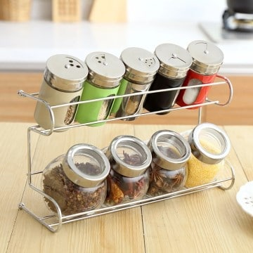 Modern Spice Storage Glass Jars